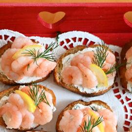 Bruschetta with Shrimp & Chèvre