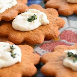 Chevre Thyme Gingerbread