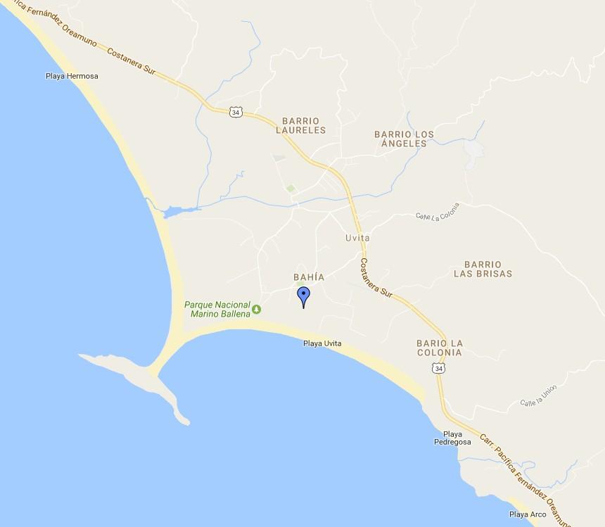 uvita map google