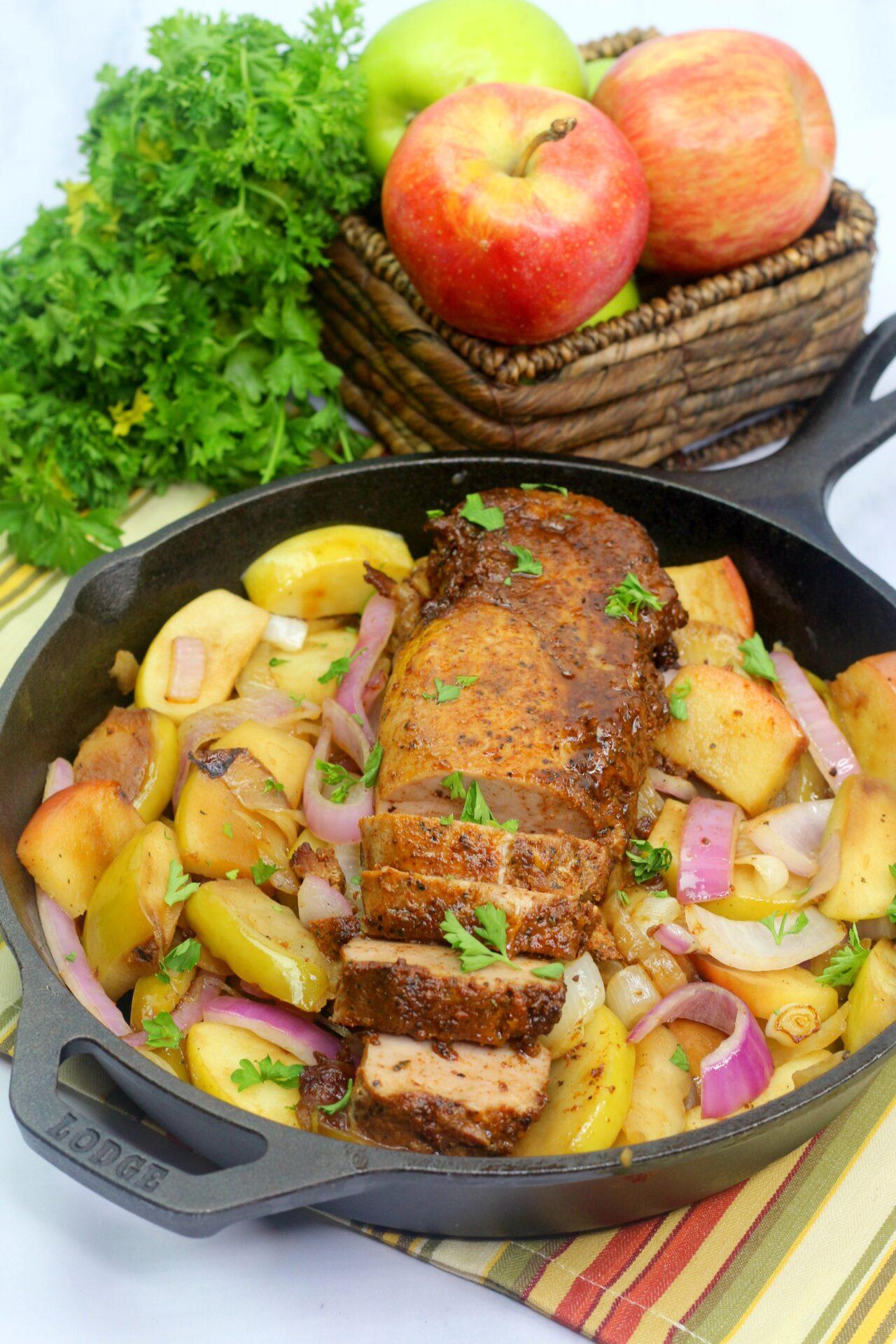 pork and apple bake
