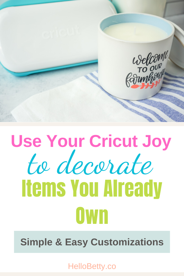Cricut Joy To Decorate Items