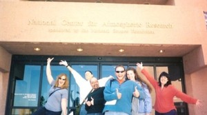 Some of retainers enjoying themselves (out of uniform, of course) at the National Center for Atmospheric Research.
