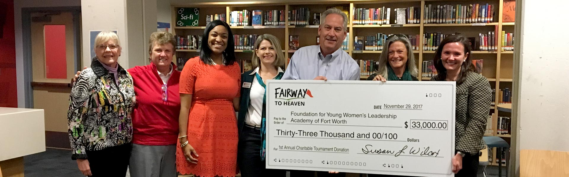 Fairway to Heaven charity check