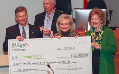 Fairway to Heaven Presents 2019 Gift to LeaderKids Fort Worth