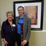 """Raeleen with former Palatine High School student, Doug Spaniol. Doug is Professor of Bassoon and Assistant Department Chair at Butler University. He presented a great session with colleague Pam French entitled """"Dealing With Double Reeds."""""""