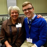 Raeleen with Christian Delaney Purdy - Indiana University student, good friend, colleague and session facilitator.