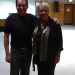 Raeleen pictured with Dr. Jose Riojas - Director of Bands, Director of Instrumental Studies, Professor of Saxophone and Assistant Professor of Music at UIC.