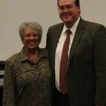 Raeleen with host Dr. Michael Schallock - Associate Professor of Music Education and Tuba