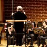 Raeleen Horn-guest conductor-Brevard College Wind Ensemble. Brevard, NC.