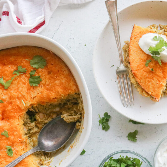 Green Chicken Tamale Pie Landscape