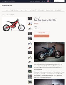 online scam Facebook bike fake website
