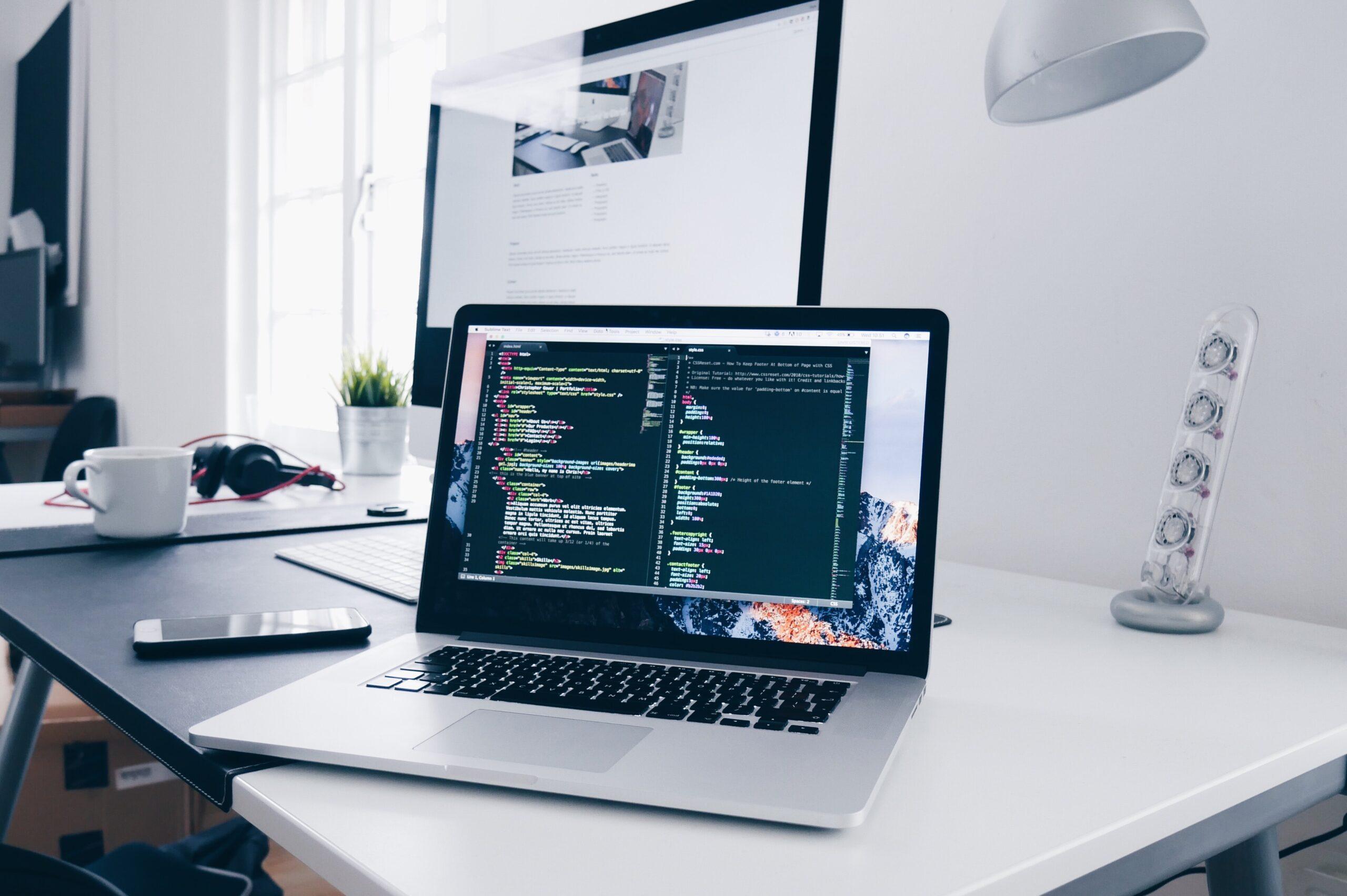 Image of Web Design Computer Coding