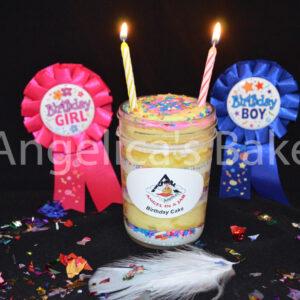 BIRTHDAY CAKE ANGEL JAR