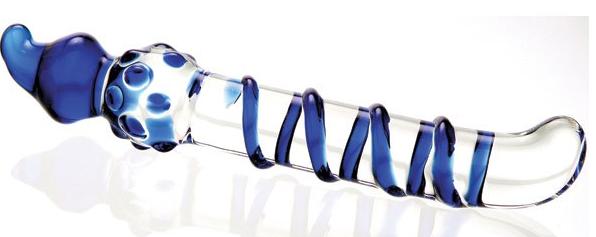Blue Swirl Glass 4-Way 'G'