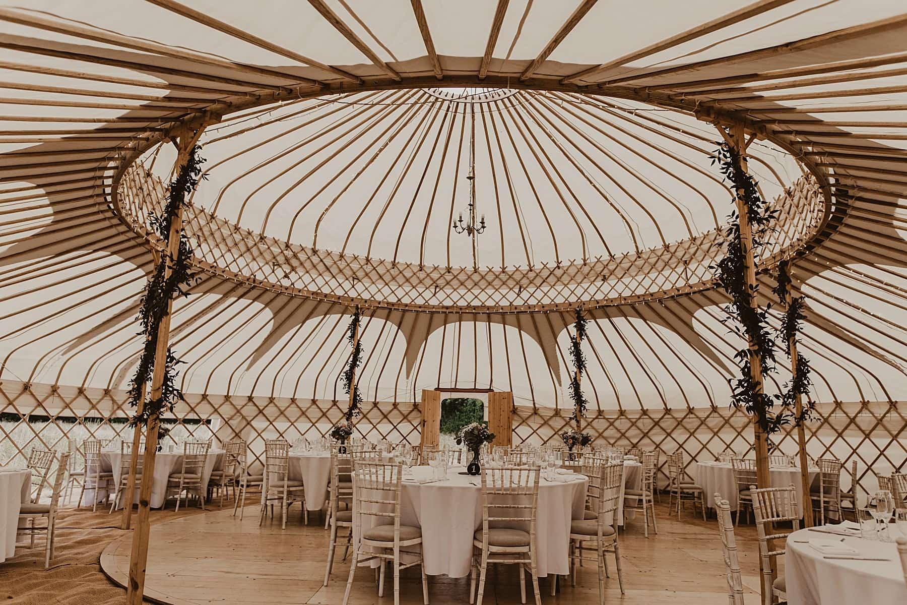 Interior of yurt- Welsh wedding photographer