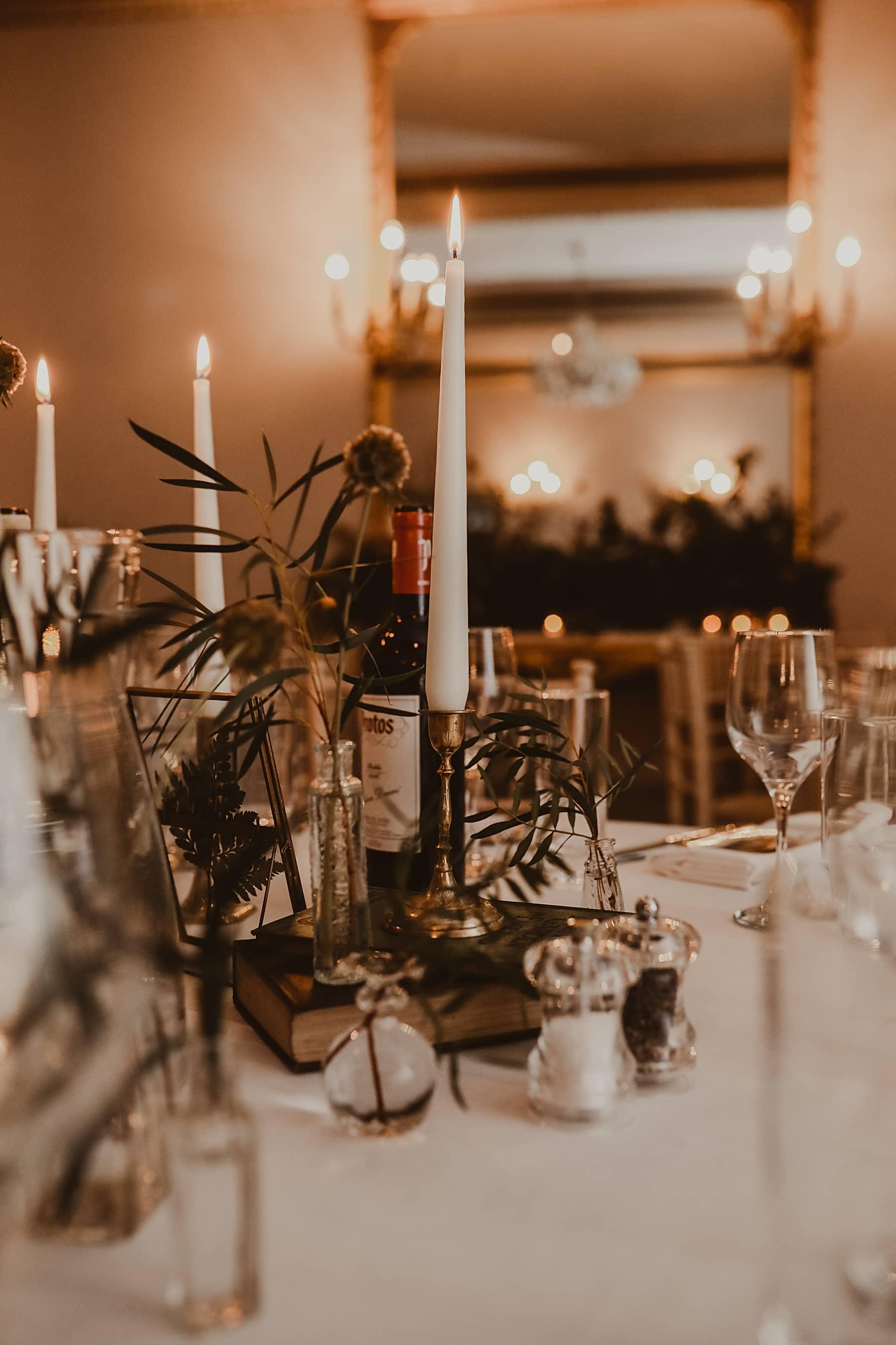 Candle lit details- Garthmyl Hall
