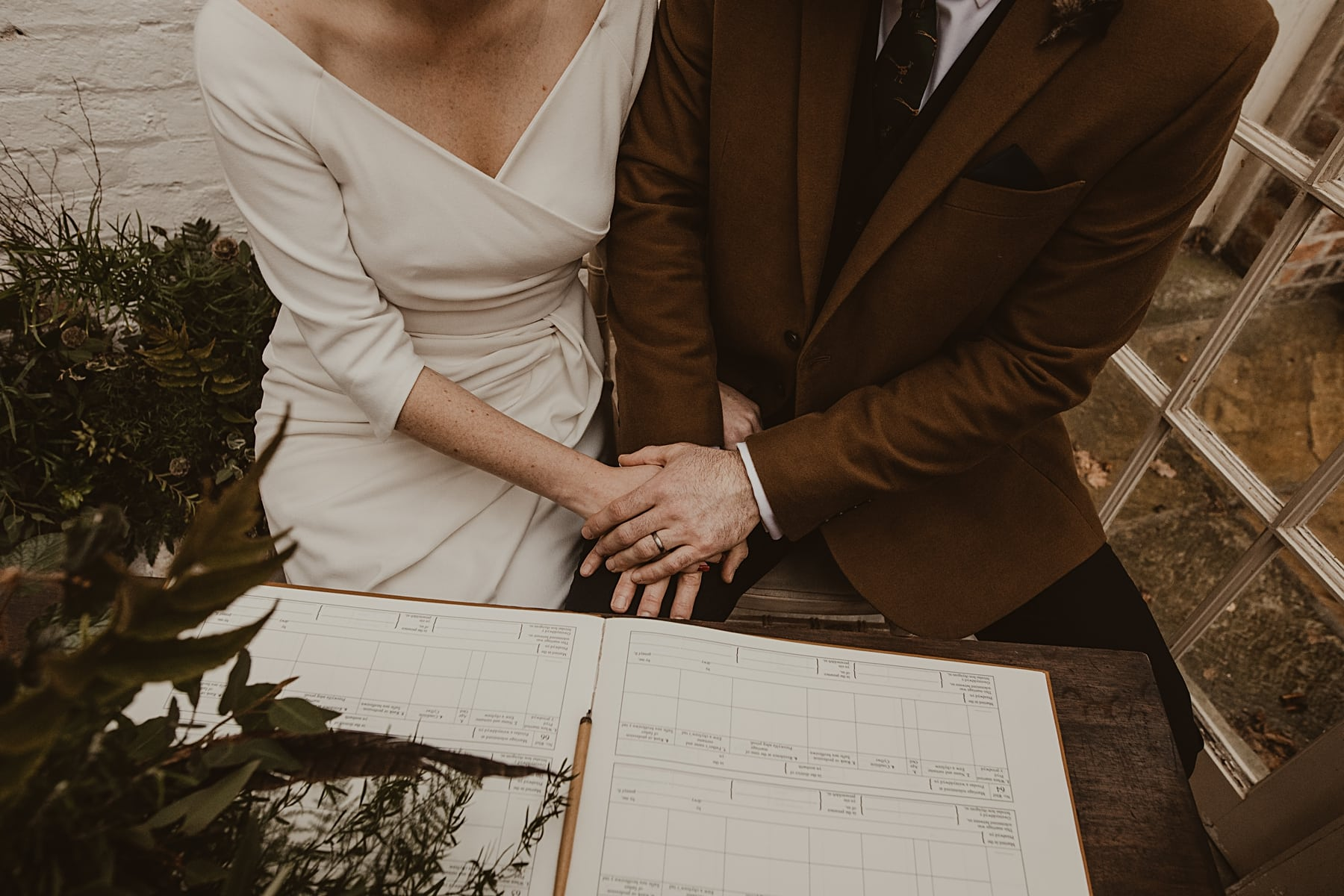 Signing register- Natural Wedding Photography