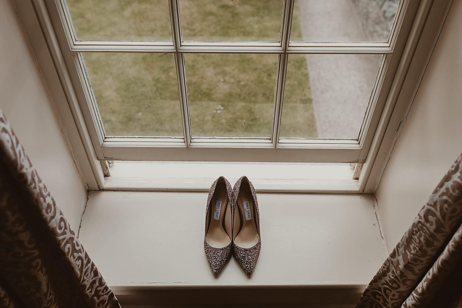 Jimmy Choo Shoes on window