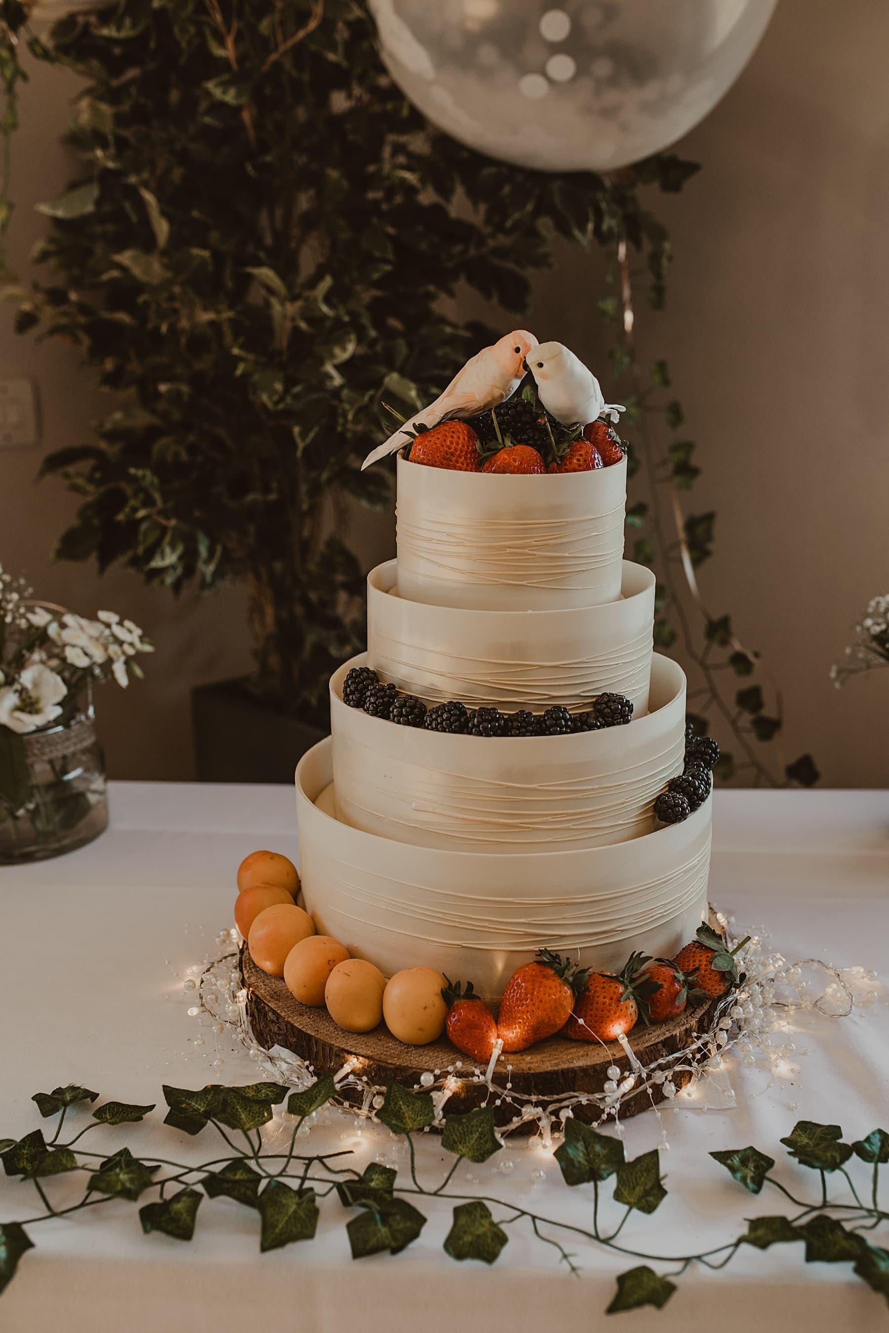 M&S white chocolate wedding cake