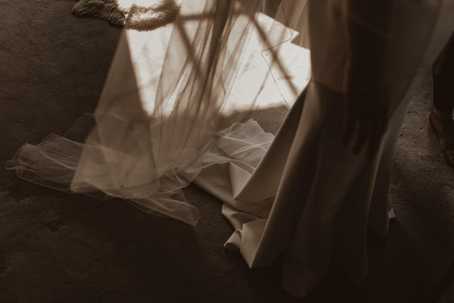 Shadows through veil