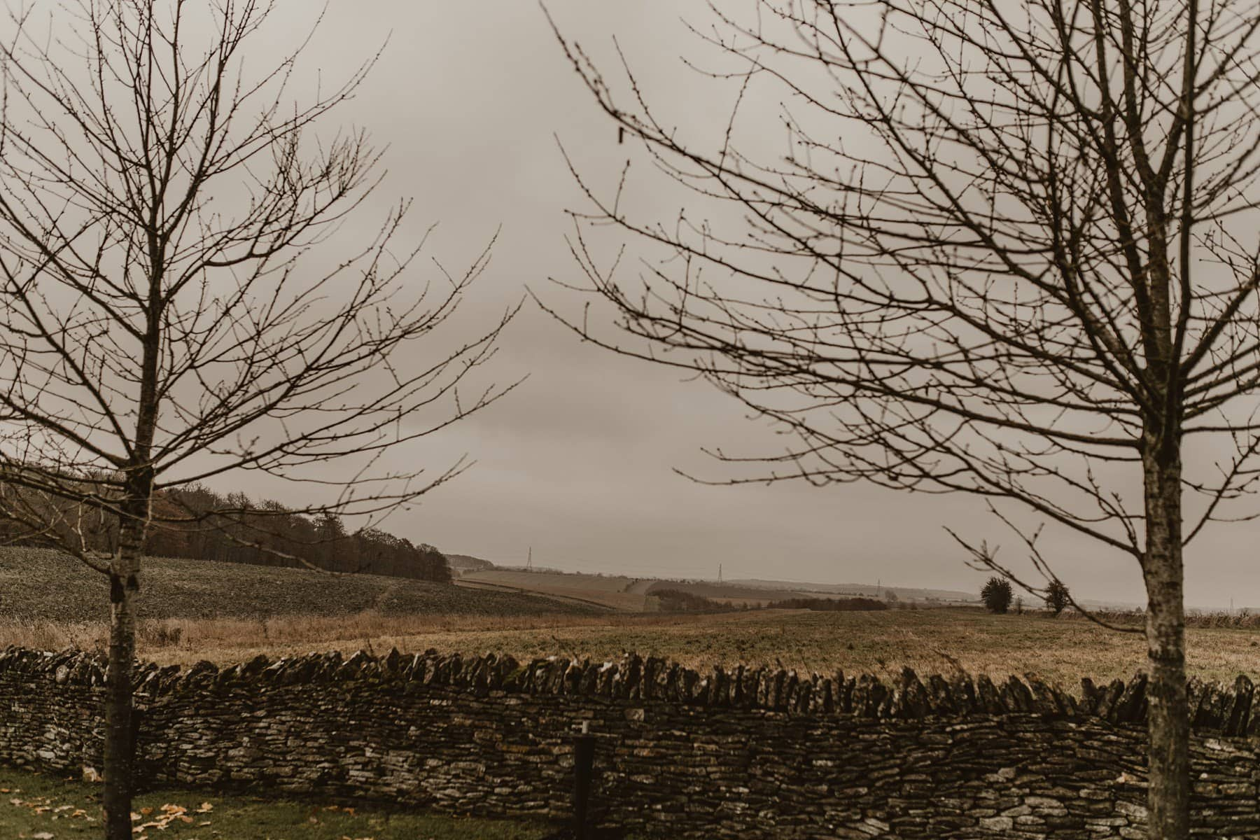 Landscape outside Stone Barn, Cotswold