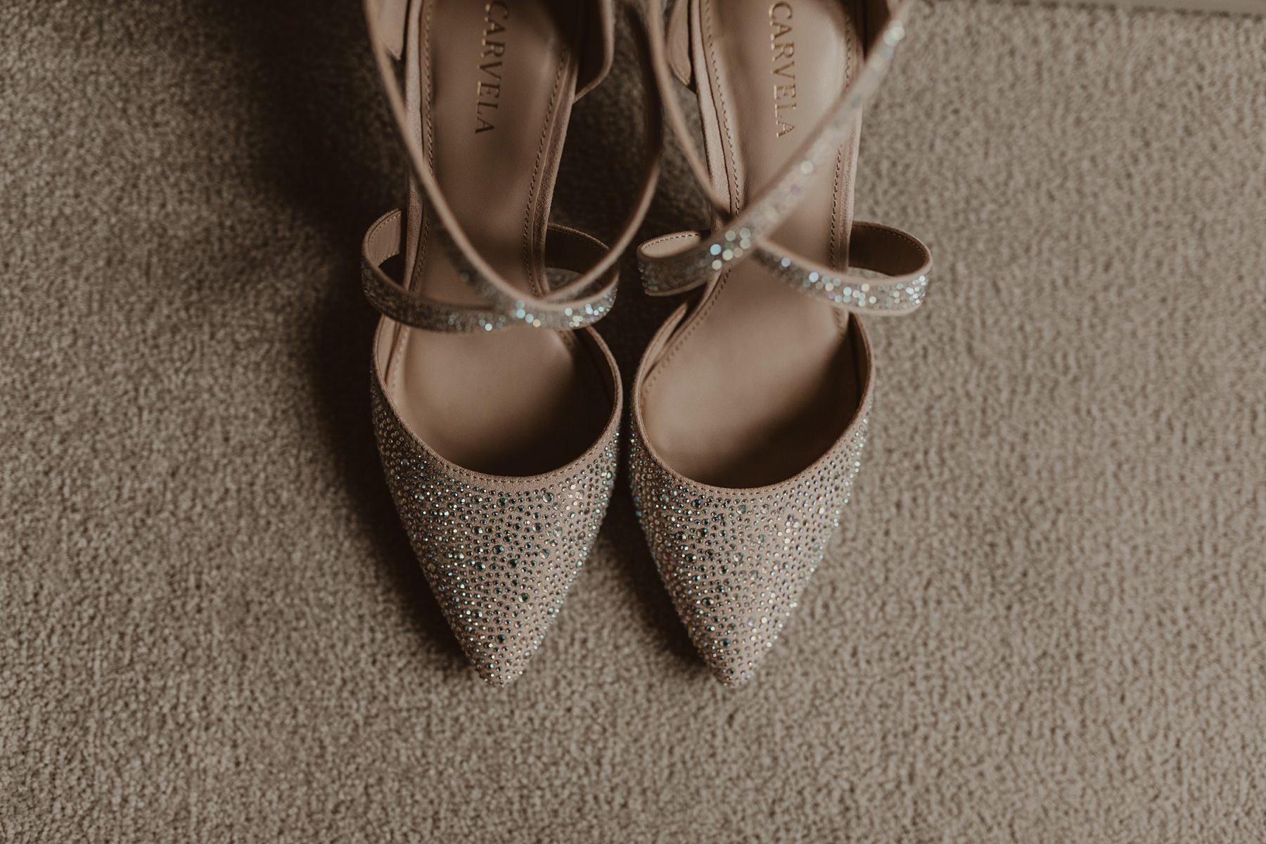 pair of bride's shoes