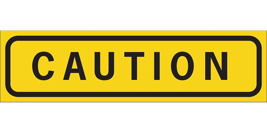 Caution slip and fall sign