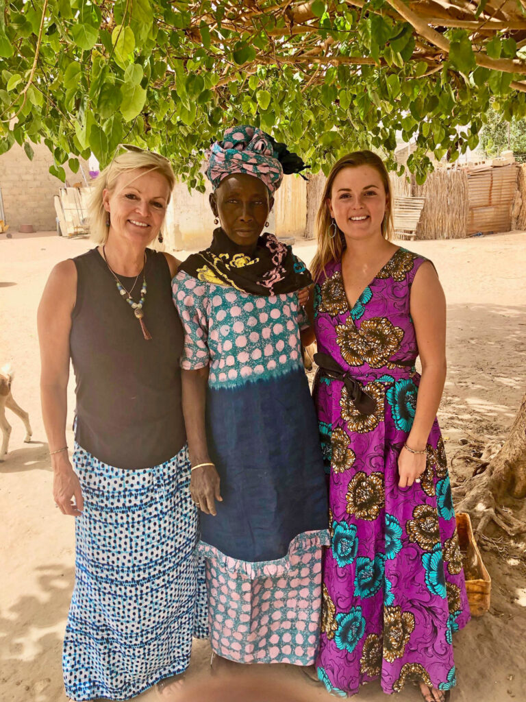 Eva and her daughter, Meadow (a Peace Corps Volunteer), in Senegal.
