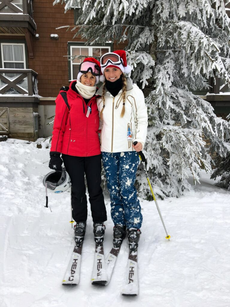 Kim and her daughter, Katie (who also works at Chesapeake Properties!), skiing at Snowshoe Mountain in West Virginia.