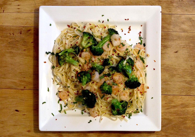 Shrimp and Broccoli Linguine
