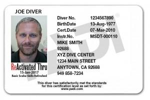 PADI ReActivate Card