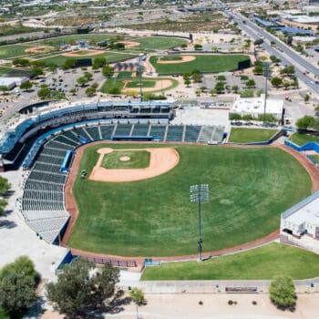 Kino Veterans Memorial Stadium aerial