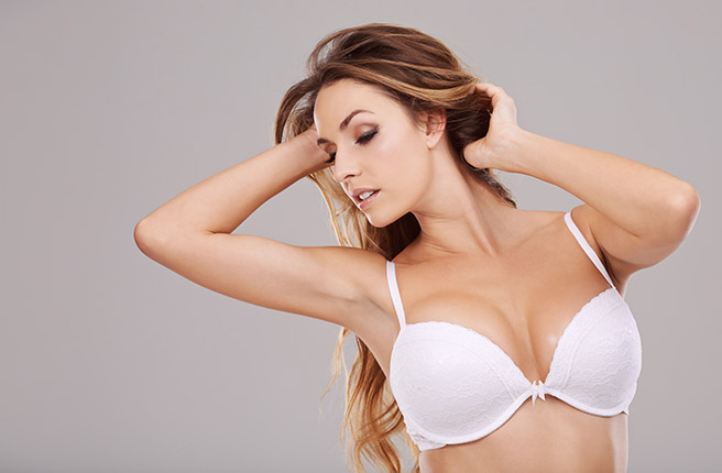 woman in white bra Bellava MedAesthetics and Plastic Surgery Center in Bedford Hills, NY