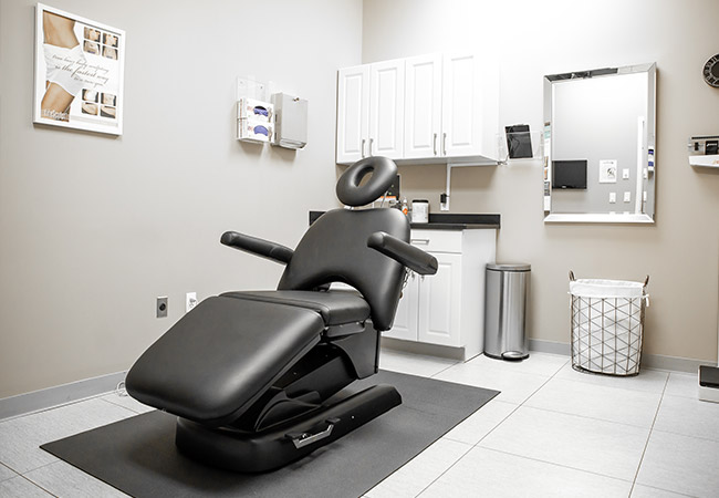 treatment room Bellava MedAesthetics and Plastic Surgery Center in Bedford Hills, NY
