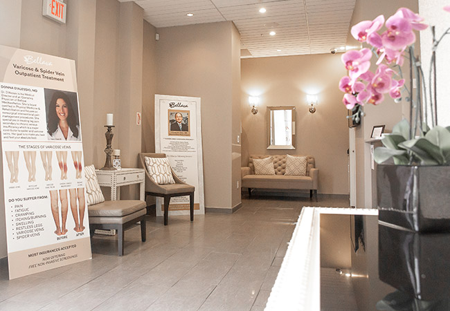 waiting area Bellava MedAesthetics and Plastic Surgery Center in Bedford Hills, NY