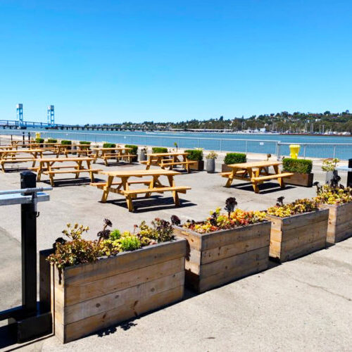 Coal Shed Brewery Outdoor Seating Area