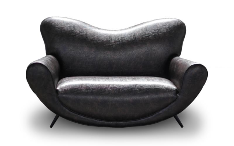 Mustafio Love Seat (Havana Pleather)
