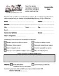 Race City Injector Order Form