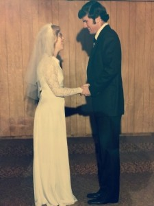 Norris and Becky exchange vows in January 1980 ceremony