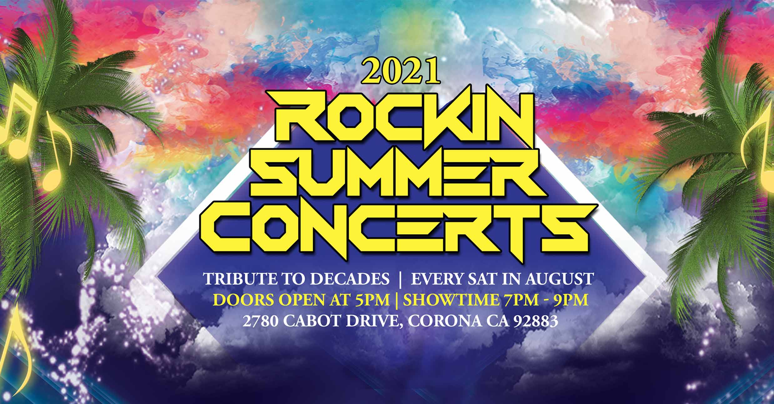2021 Rockin Summer Concerts – Save The Dates!