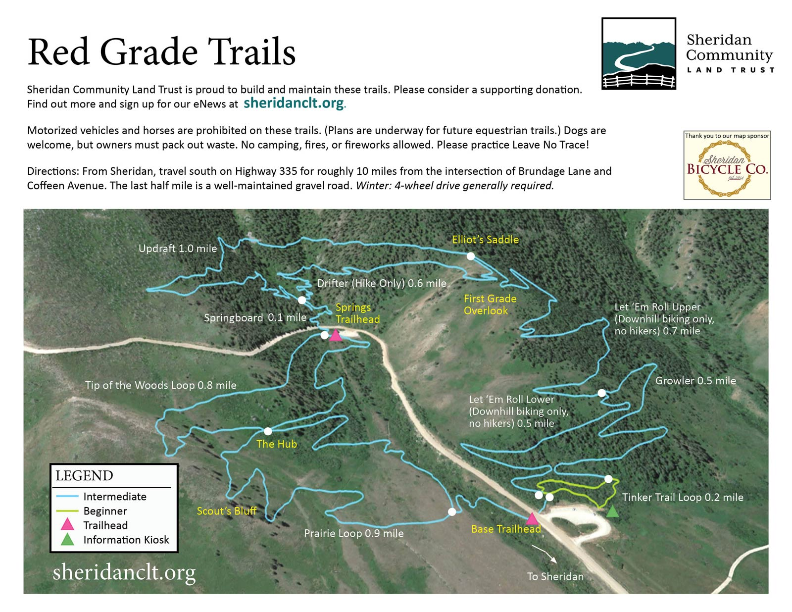 Red Grade Trails System Map