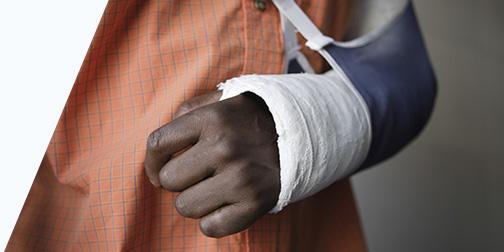 Broken Arm in Sling Image