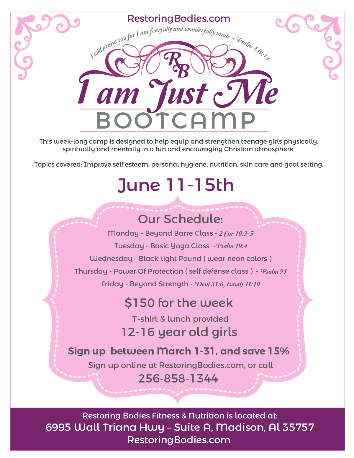 I am Just Me Bootcamp