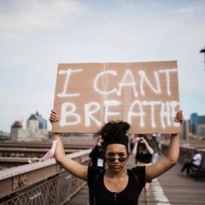 I can't Breathe Sign at Protest