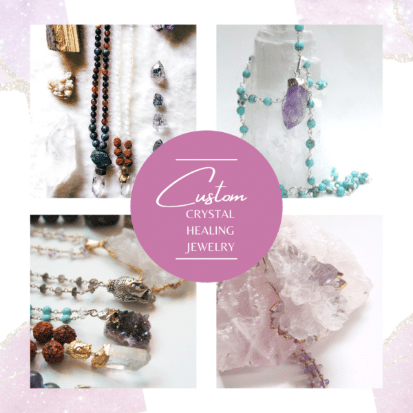 Handmade Necklaces with Gemstone and Crystals by Remember Love