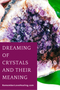 Dreaming of Crystals title with deep purple amethyst