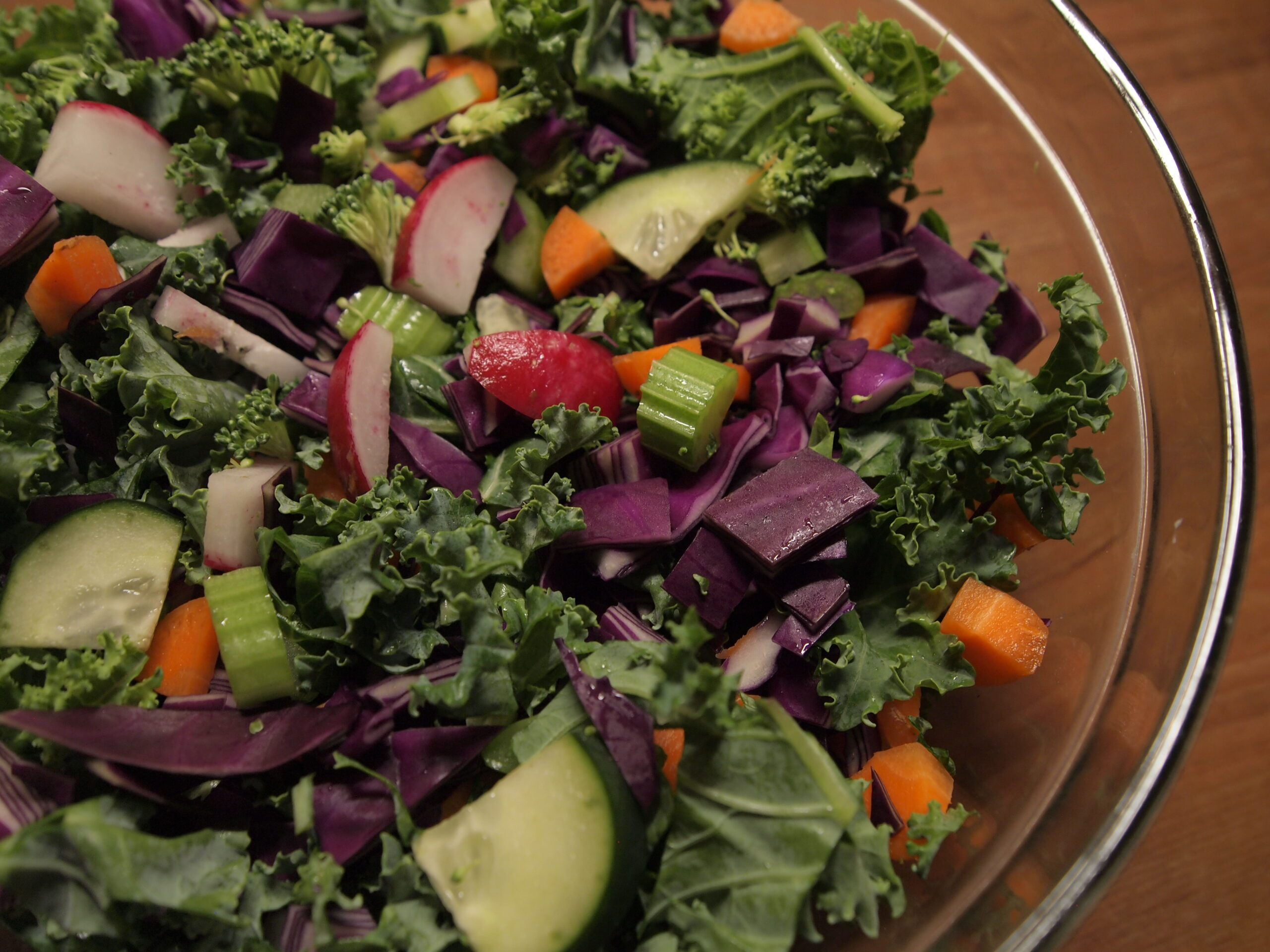 Mighty Rainbow Kale Salad