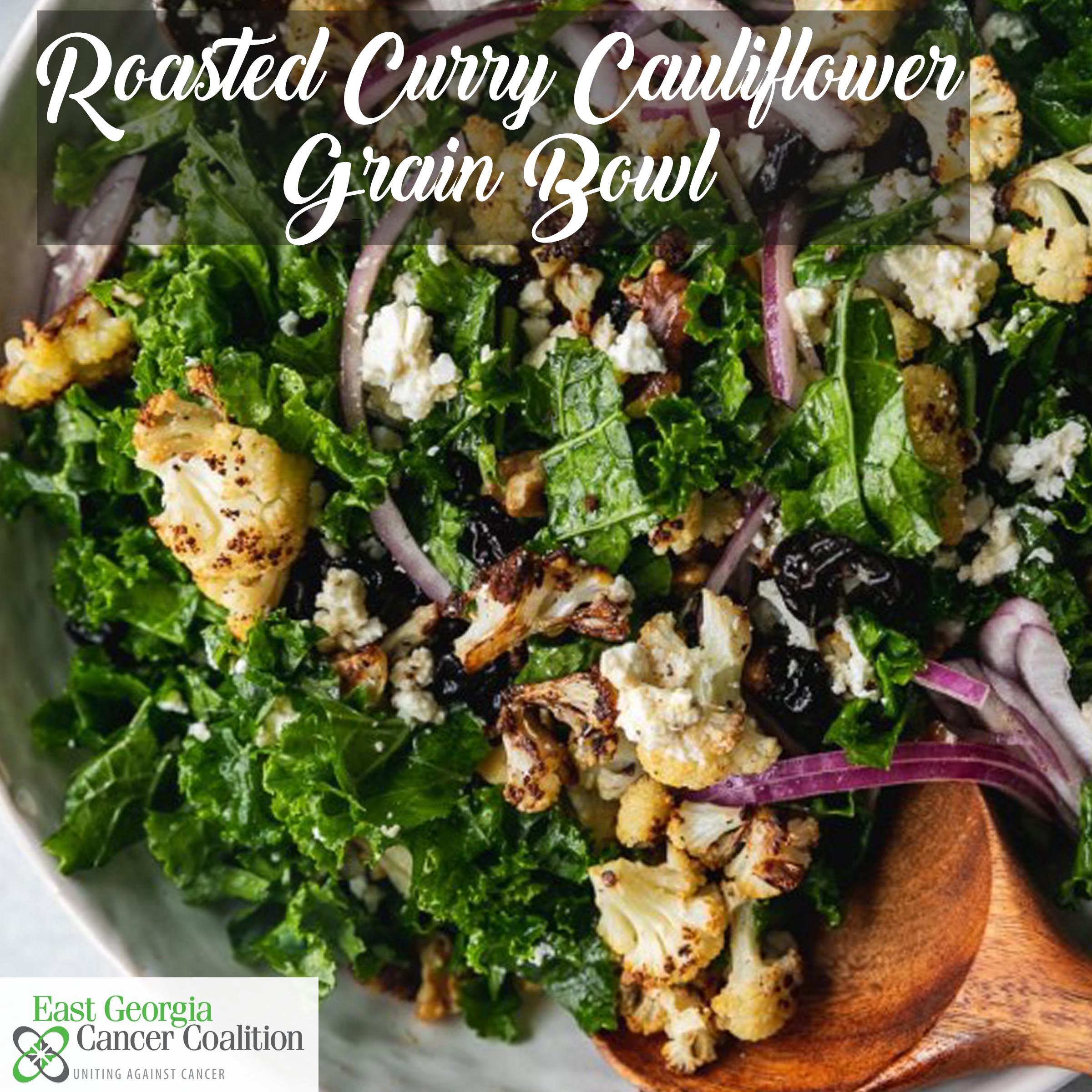 Roasted Curry Cauliflower & Grain Bowl