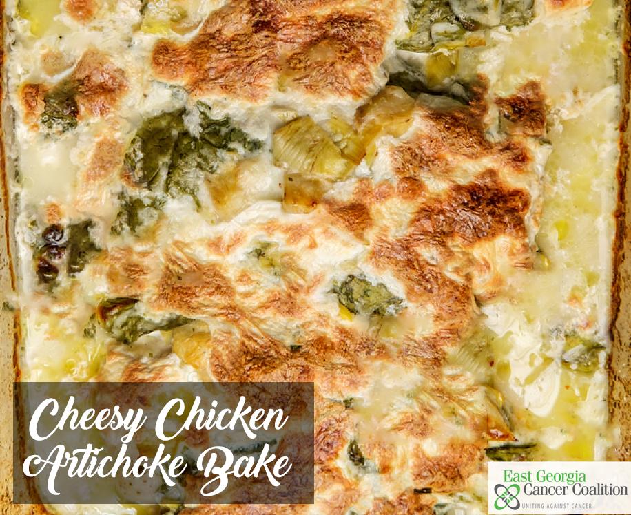 Cheesy Chicken Artichoke Bake