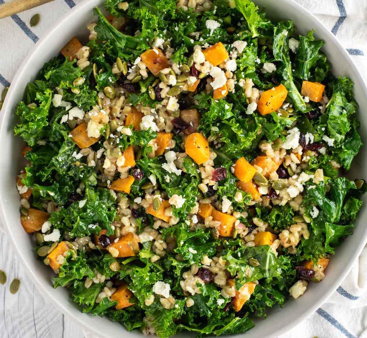Roasted Sweet Potato, Quinoa & Kale Salad